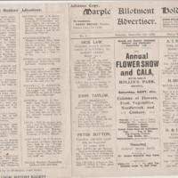 Marple Gardeners and Allotments Holders Association Gala 1920 and Concert 1921