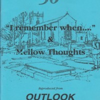 "Booklet : ""I remember when....""  and Mellor thoughts"" :1991-1996"