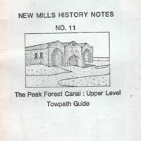 Booklet : No 11 Peak Forest Canal: Upper Level Towpath Guide : 1986
