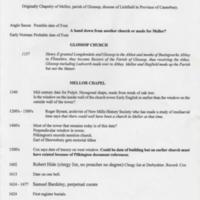 Mellor Church Chronology : 1157 - 1996