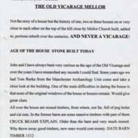 "Talk : ""The Old Vicarage"" : Given by Ann Hearle : 2005"
