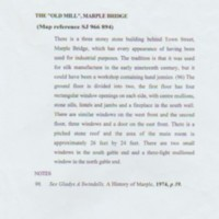 The Old Mill, Marple Bridge : Brief History & Information