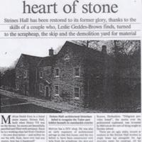Strines Hall : Magazine Article : 1991