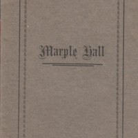 Booklet : A short Guide & History of Marple Hall : 1934