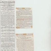 Damstead Mill : Newspaper Cuttings : 1800's