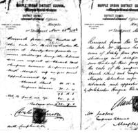 Receipts from Marple Urban District Council 1896