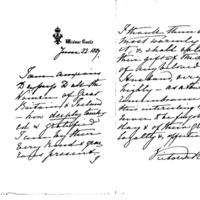 Letter from Queen Victoria dated 22nd June 1887