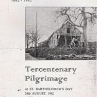 Front Cover : Tercentenary Pilgrimage : 1962