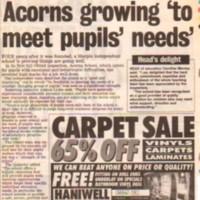 Newspaper cuttings regarding The Acorns Independent School