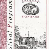 Booklet : Festival Programme for Oldknow Bicentenary : 1990