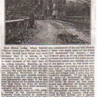 Mellor Lodge : Photographs & Newspaper Article