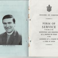 Booklet : Institution & Induction of the Rev John Claydon 1981