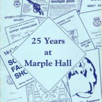 Booklet : Twenty Five Years at Marple Hall