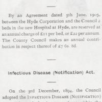 Infection Diseases statistics compiled by  MUDC 1912