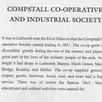 Exhibition Material : History of Compstall Co-op : 1994