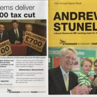 Andrew Stunnell 16th Annual Report Leaflet