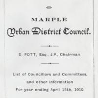 Information on Councillors & Committees 1910  : Daniel Pott