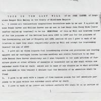 John Carver Last Will & Testament : 1911