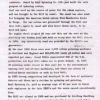 Goyt Mill : Brief History 1905 - 1964