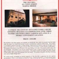 The Old Mill,  Marple Bridge Estate Agents Details : Undated