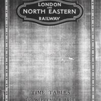 Timetable for London & North Eastern Railway 1928