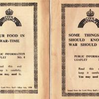 Numerous Public information Leaflets/Booklets from Government /Local Council : 1939 - 1941