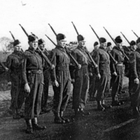 Photographs : Marple's Home Guard : Drill / Marching Practice : WW2