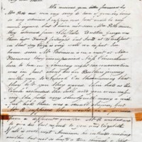 Letter from N Wilde to Sister : 1826