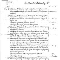 Invoice for Legal work by Charles Walmsley : 1844