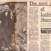 Newspaper cuttings relating to Ludworth Coal Mine