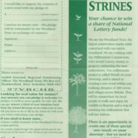 Leaflet : New Wood At Strines ; Millennium Project