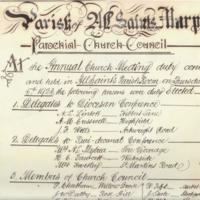 Poster : Parochial Church Council  1923