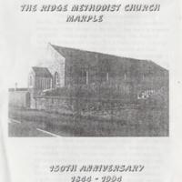 Leaflet  : The Ridge Methodist Church, Marple : 1994
