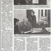 """Newspaper cuttings : """"Story of Marple Philadelphia"""" 1989 & """"Old-Know'ledge comes to Marple from States 1996"""