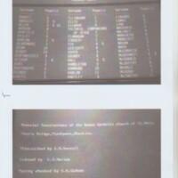 Memorial Inscriptions Index : St Mary's Roman Catholic Church, Marple Bridge