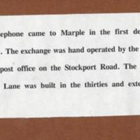 Brief History of Telephone in Marple