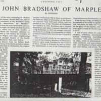 Extract : Cheshire Life : 1950 : John Bradshaw of Marple