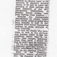 Newspaper Article : John Fearnley : Photographic Exhibition : 1961