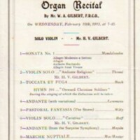 Programme for Organ Recitals 1911 & 1915