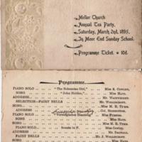 Ticket to Mellor Church Tea Party 1895