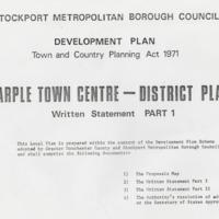 Marple Town Centre Plan : Part 1 :  1971