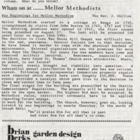 """Page from booklet heading """"Whats on at......Mellor Methodists"""", undated."""