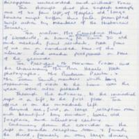Handwritten Report : Visit by MLHS to Woodville  : 1992
