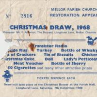 Ticket for Christmas Draw : 1968