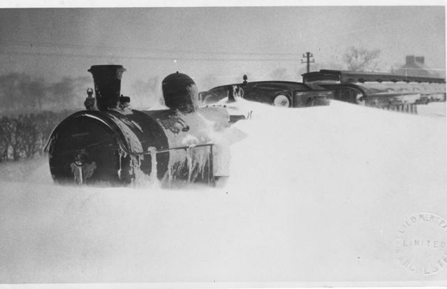 Winter Train Engine