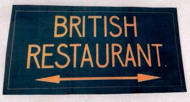 Marple British Restaurant Sign