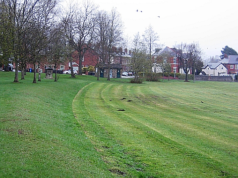 Line of Tramway, across Recreation Ground